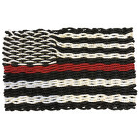 Custom Cordage Maine Rope Flag - Thin Red Line