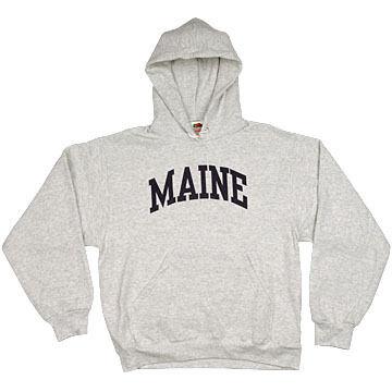 A.M. Mens Maine Arch Design Long-Sleeve Hooded Sweatshirt