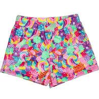 Candy Pink Girls' Candy Fleece Pajama Short