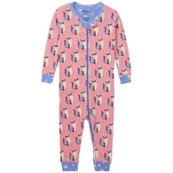 Hatley Infant Girl's Patchwork Kitty Organic Cotton Coverall