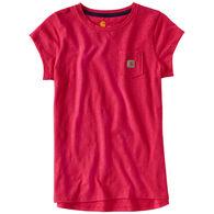 Carhartt Girls' Pocket Short-Sleeve T-Shirt