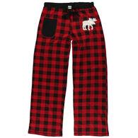 Lazy One Women's Moose Plaid Applique Pant
