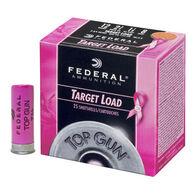 "Federal Top Gun Target Breast Cancer Awareness 12 GA 2-3/4"" 1-1/8 oz. #8 Shotshell Ammo (25)"