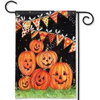 BreezeArt Party Time Pumpkins Decorative Garden Flag