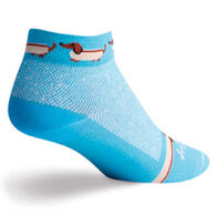SockGuy Women's Weiner Dog Bicycling Sock