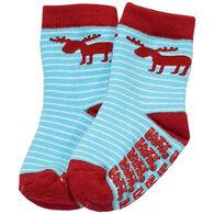 Lazy One Infant Boys' Stripe Moose Sock
