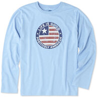 Life is Good Boys' Positively American Coin Long-Sleeve Cool T-Shirt