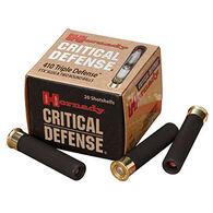 """Hornady Critical Defense 410 GA 2-1/2"""" FTX Slug & Two Round Balls Ammo (20)"""