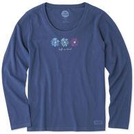 Life is Good Women's Happy Daisies Crusher Scoop Long-Sleeve T-Shirt