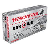 Winchester Win1911 45 Auto 230 Grain JHP Handgun Ammo (50)