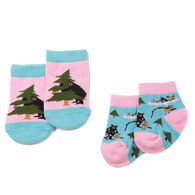 Hatley Infant Little Blue House Life in the Wild Baby Sock Set, 2-Pack