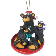 Big Sky Carvers Saucer Sled Ornament
