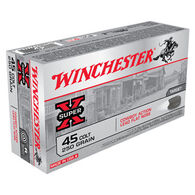 Winchester Super-X 45 Colt 250 Grain Cowboy Action Lead Flat Nose Handgun Ammo (50)