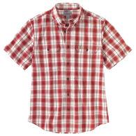 Carhartt Men's Big & Tall Original Fit Midweight Button-Front Short-Sleeve Shirt