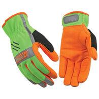 Kinco Men's KincoPro Hi-Vis Unlined Driver Easy-On Work Glove