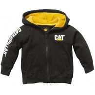 CAT Boy's Trademark Banner Zip Sweatshirt