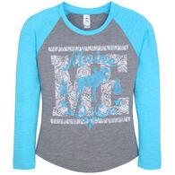 Salt Creek Apparel Girl's Raglan Maine Moose Short-Sleeve T-Shirt
