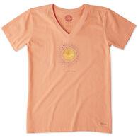 Life is Good Women's Radiate Love Sun Crusher Vee Short-Sleeve T-Shirt