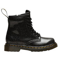 Dr. Martens AirWair Toddler Girls' 1460 Black Coated Glitter Boot