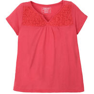 Stillwater Supply Women's Smock Top Cap-Sleeve Shirt