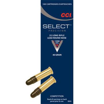CCI Select 22 LR 40 Grain LRN Rimfire Ammo (100)