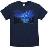 Liberty Graphics Men's Night Kayak Short-Sleeve T-Shirt