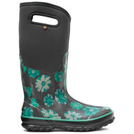 Bogs Women's Classic Tall Winter Floral Waterproof Insulated Boot