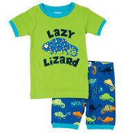 Hatley Boys' Crazy Chameleons Summer Pajama Set
