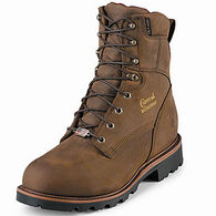 "Chippewa Men's 8"" Steel Toe Waterproof Insulated Safety Work Boot, 400g"