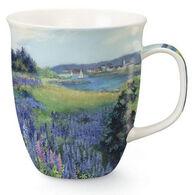 Cape Shore Maine Lupine Meadow Harbor Mug