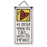 "Spooner Creek Designs ""A Dog Wags Tail"" Mini Charmers Tile"