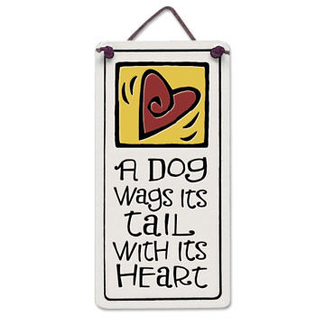 """Spooner Creek Designs """"A Dog Wags Tail"""" Mini Charmers Tile"""