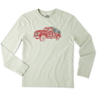 Life is Good Men's Holiday Truck Long-Sleeve Crusher T-Shirt