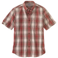 Carhartt Men's Big & Tall Relaxed Fit Lightweight Button-Down Plaid Short-Sleeve Shirt