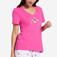 Life is Good Women's Flip Flop Dreams Short-Sleeve Sleep Vee T-Shirt