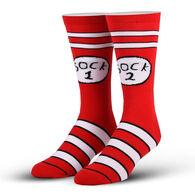 Odd Sox Unisex Sock 1 Sock 2 Crew Sock