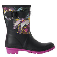 Joules Women's Molly Welly Mid Height Printed Rain Boot