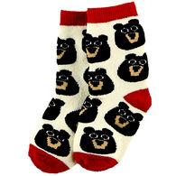 Lazy One Infant/Toddler Bear Cub Sock
