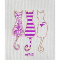 Wet-it! Swedish Cloth - Cat Lover Purple