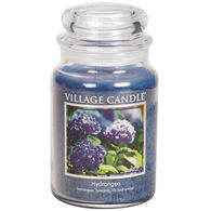 Village Candle Large Glass Jar Candle - Hydrangea