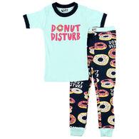 Lazy One Boys' & Girls' Donut Disturb PJ Set