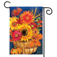 BreezeArt Fall Bushel Basket Garden Flag