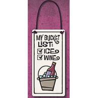 """Spooner Creek """"Bucket List"""" Wine Tag Tile"""