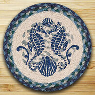 "Capitol Earth Shell & Coast Seahorse 10"" Round Braided Rug"