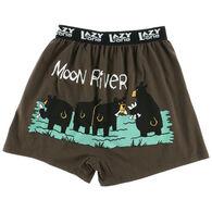 Lazy One Men's Critters Moon River Comical Boxer Short