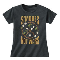 Earth Sun Moon Trading Women's S'Mores Not Wars Short-Sleeve T-Shirt