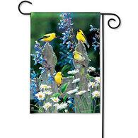 BreezeArt Finch Fencepost Decorative Garden Flag