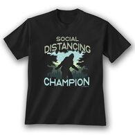 Earth Sun Moon Trading Men's Social Distancing Champ Short-Sleeve T-Shirt