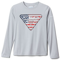 Columbia Boy's PFG Terminal Tackle Triangle Fill Long-Sleeve Shirt