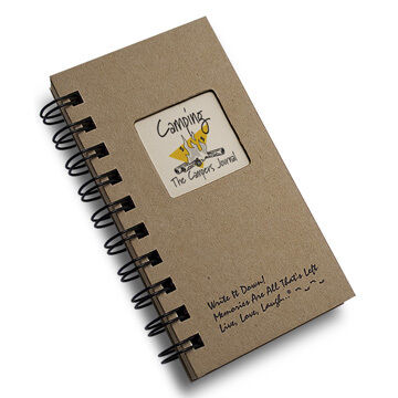 """Journals Unlimited """"Write it Down!"""" Mini-Size Camping Journal"""